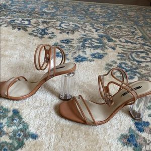 Zara clear heels